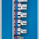 Набор торцевых головок 1/2″&3/8″, TORX Е-стандарт, Е4-Е20, 12 предметов KING TONY 7113PR